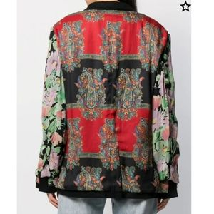 NWT$2153 Junya Watanabe Floral Paisely Jacket Runw